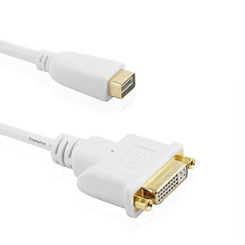 Cablesson - Mini DVI auf DVI Adapter (Apple Mini DVI auf DVI-D Adapterkabel) - weiß - verbindet Ihren Apple iMac, Mac mini, Macbook, PowerBook G4 mit einem externen DVI Bildschirm oder Beamer