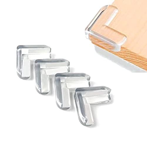 Protector de esquinas bebé - Protector para bordes transparente de muebles - Protector mesa a Prueba de bebé - Protectores de seguridad contra esquinas afiladas - Pack 12 piezas