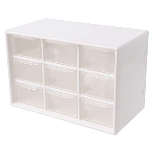 YoungerY Caja de Almacenamiento de cajones de Nueve Rejillas Caja de Almacenamiento de Joyas - Blanco