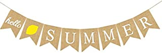 Hello Summer Hello Spring Pool Party Yacht Party Decoration Bunting Festival Decoration Linen Party Banner