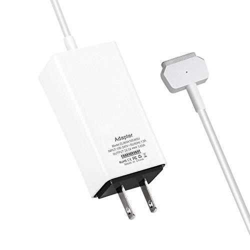 60W Mini Charger for MAC MacBook Pro 13 inches with Retina Display (Made After Late 2012),Replacement for Magsafe 2 T-tip Power Adapter