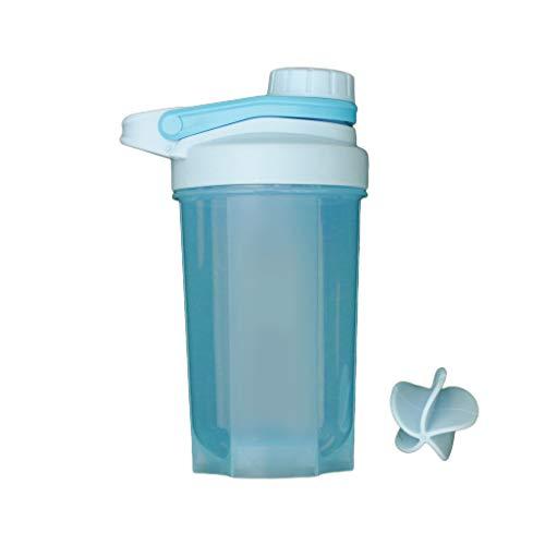 BMBN Vaso Mezclador Deportivo, 500ml BlenderBottle Fitness Sports Shaker Bottle Mezclador clásico de proteína en Polvo Vaso agitador con Bola mezcladora Beige