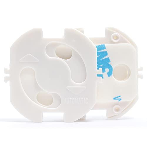 KIDIMAX® Steckdosen Kindersicherung, zum klemmen und kleben, Steckdosenschutz für Baby und Kinder, Steckdosensicherung, Kinderschutz (10 Stück)