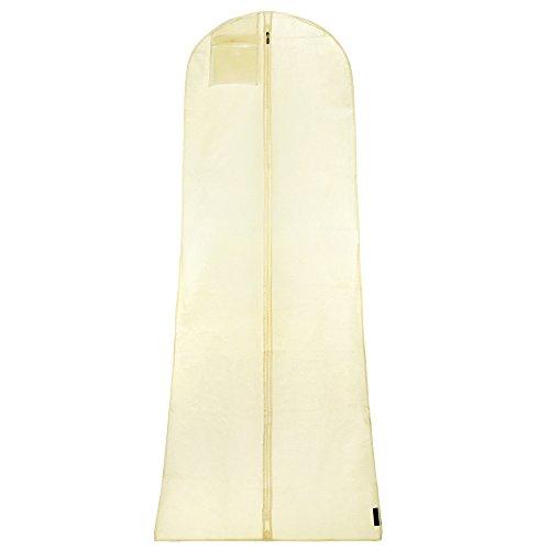 Hangerworld Funda para Vestido de Novia 183cm Nuevo Diseño Floral Transpirable Anti-Polvo...