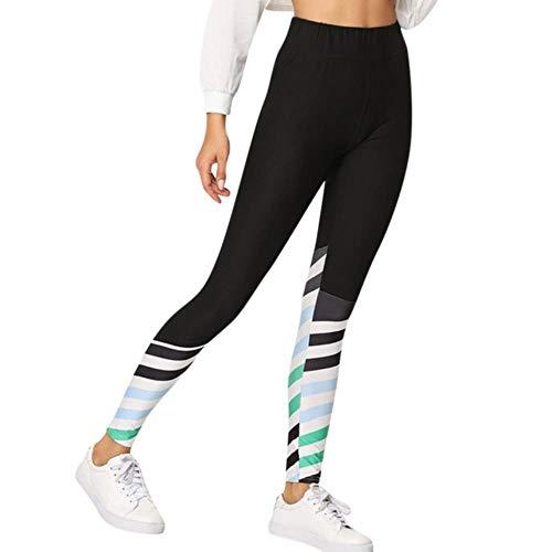 FFSMCQ Leggings Damen Damen Leggings Gehen Fitness Weibliche Gamaschen Temperament Beiläufige Übung Leggings Fitness-Sport-Laufende Gamaschen Gotico @ Py,Schwarz,S