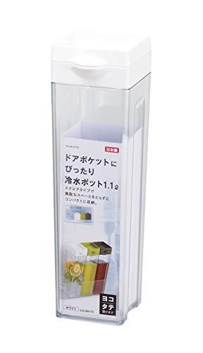 パール金属 冷水ポット 1.1L ホワイト 日本製 ドアポケットにぴったり HB-5779