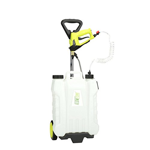 FlowZone Shower 4-Gallon Multi-Use Continuous-Pressure Backpack & Rolling Lithium-Ion Sprayer