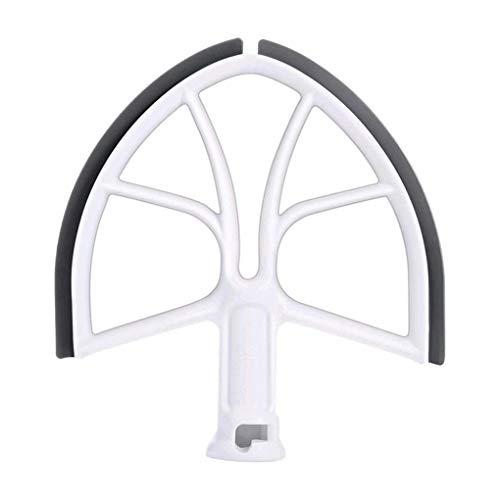 Yosiyo Borde de Silicona Batidor Paddle Bowl-Lift batidora de pie Inicio Mezcla de la Cocina de reemplazo de fijación para KitchenAid 6-Quart