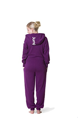 Jumpster Damen und Herren Jumpsuit Langer Overall Second G. Regular Fit Deepest Purple Violett L - 2