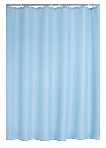 RIDDER Duschvorhang Textil Uni hellblau 180x200 cm