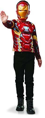Rubies – Disfraz oficial de Marvel – Vengadores – Disfraz de camiseta y máscara oficial Marvel Iron Man – Talla estándar – I – 300113
