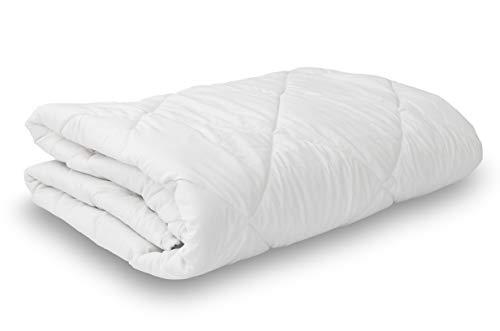 Leonado Vicenti Bettdecke Komfort Soft kochfeste Steppdecke, Microfaser allergikergeeignet atmungsaktiv & wärmeausgleichend Qualität Bettwaren (200 x 200 cm, Sommerdecke (160 g/m²))
