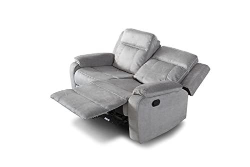 SWEET SOFA®- Sofá Relax 2 plazas REIMON, sofá reclinable de 3 Posiciones, Apertura por Palanca. (Beige)