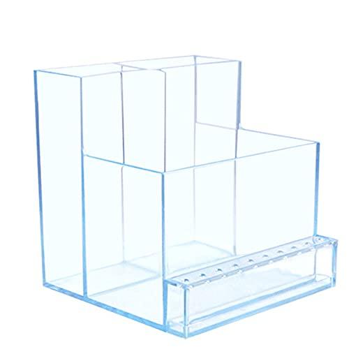 Raybre Art® Caja de manicura con Soporte para Brocas para uñas con 10 Agujeros para salón de uñas