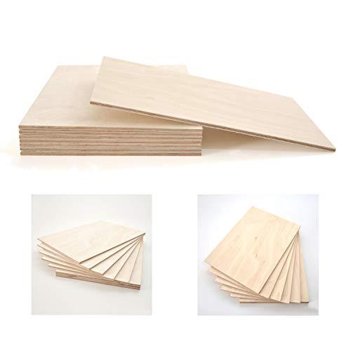 Stallmann Design Sperrholz-Platte 50x100 3mm Stärke Multiplex Zuschnitt Birke Qualität B/BB Holzplatte für Regalböden oder zum basteln Laubsäge-Holz Bastelholz