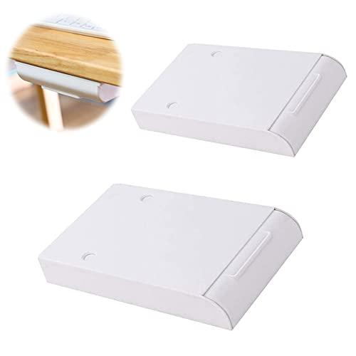 2 Stück Selbstklebende Schublade Aufbewahrungsbox unter dem Schreibtisch Schreibtisch Schublade Selbstklebende Unterbau Schublade Schreibtisch Organizer für Schminktisch, Zuhause, Büro, Schule