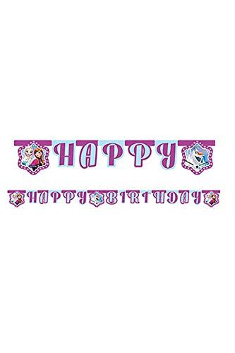 Procos- Ghirlanda con Lettere Frozen Lights 'Happy Birthday' -1,8 Metri, Multicolore, 46788