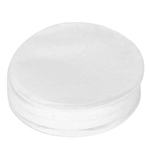Raguso 100 Stück Papierfilterset Filterpapier Rund Weißes Filterpapier Einweg Papierfilter Kaffeefilter Papier Professioneller Ersatzfilter für Kaffeemaschinen Teetasse(60mm)