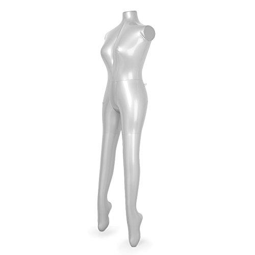 Newsmarts Inflatable Female Full Body Mannequin Dress Display Torso Dummy Model