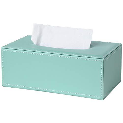 GORESE Kosmetiktücherbox Tücher Box aus Leder (Mint Green)