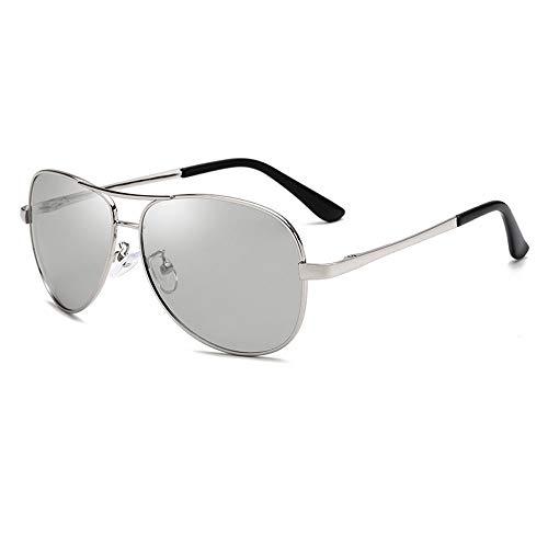 LZXMXR Gafas de Sol Gafas de Sol polarizadas más vendidas Gafas de Sol de Color for Hombres Lentes de visión Nocturna Espejo de Rana Piernas de Primavera (Color : A3)