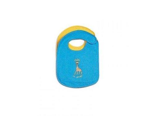 Vulli - 481552 - Sophie la Girafe - 2 Bavoirs Brodés avec Velcro