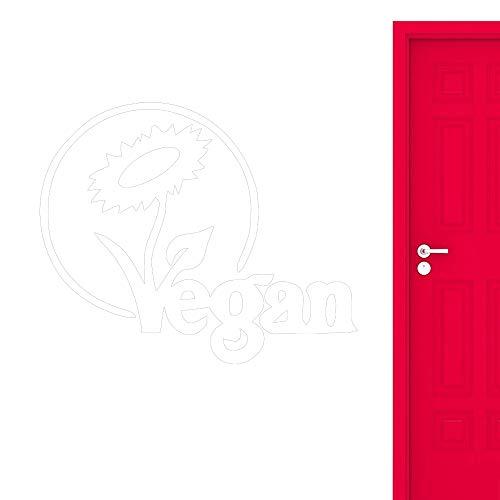 yiyiyaya Vegan Vinyl Decal Stickers Sofá Fondo Sala de Estar Home Art Decor Extraíble Etiqueta de la Pared Dormitorio Cocina Autoadhesivo Blanco 68x56cm