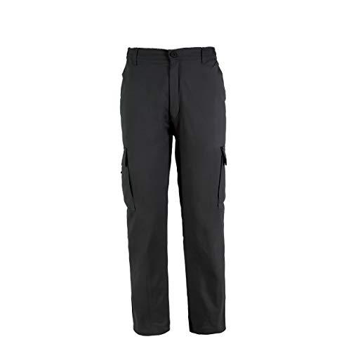 Pantalón de Trabajo para Adulto Blanco/Negro/Gris/Azul Marino Uniforme Laboral (XL, Negro)