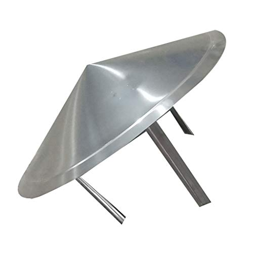 For Sale! LXLTL Chimney Cowl, galvanised Steel Pipe Rain Cover Protector Cap Ending Roof Cowl for Du...