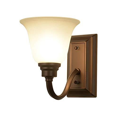MGWA Luces de Pared Lámpara De Pared De Hierro Forjado Americano Atmósfera Simple Lámpara De Noche Rústica Rústica Sala De Estar Fondo Comedor Lámpara De Pared E27