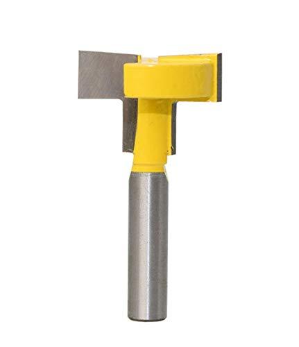 Meccion, T-Nut- und T-Schienen-Schlitzfräser-Set, 8 mm Schaft, professionelle Holzbearbeitung, gerade Schneidewerkzeuge