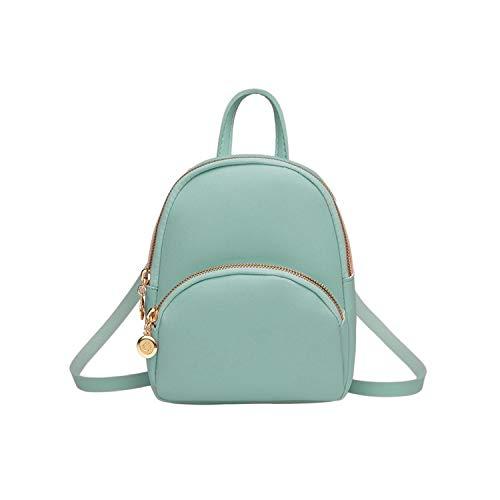 Hopereo - Mochila pequeña para mujer, de piel, multifunción, mini mochila escolar, bolsa para adolescentes, color Azul, talla Talla única