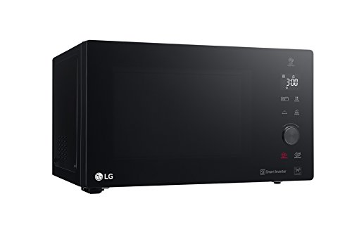 LG MH7265DPS Grill Smart Inverter - Microondas Grill 2 en 1, 1200W, 32 L, Display LED, Plato interior 360 mm, Color Negro, 30.8 (alto) x 54.4cm (ancho) x 45.8 cm (profundo)