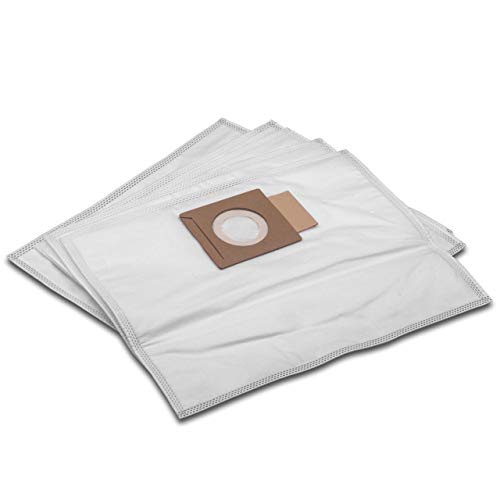 vhbw 10 microfleece Dust Bags compatible with Makita DVC260ZX, DVC260ZX4, DVC260ZX5, DVC260ZX8, DVC261, DVC261ZX11, DVC261ZX15 Vacuum Cleaner, White