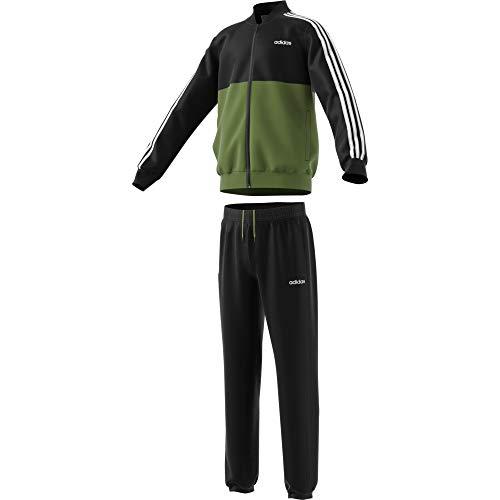 adidas Jungen Yb Ts Woven Trainingsanzug, Grün/Schwarz (olitec/Negro), 116 (5/6 años)