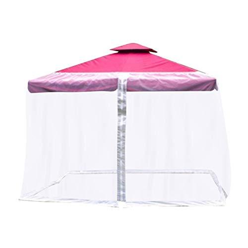 Paraguas Mosquitera para Gazebo – Jardín Exterior Bug Mosquito Net parasol al aire libre Césped Jardín Camping paraguas de la cubierta de la sombrilla ( Color : White , Size : CenterPost 300x230cm )