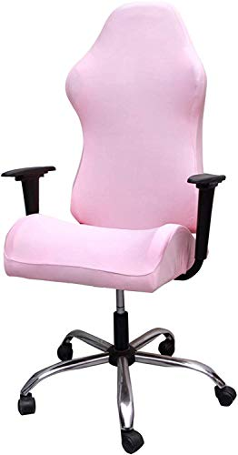 Crafttable Printed Gaming Chair Covers Stretch Office Computer Game Chair Covers Simplism Armchair Slipcovers for Leather Reclining Racing Ruffled Gamer Chair Protector,21