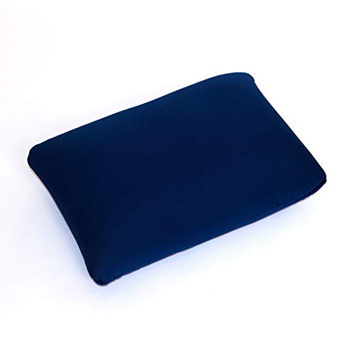 Cushie Pillows 13.5 inches x 10 inches Microbead Squishy/Flexible/Comfortable Rectangle Pillow - Navy Blue