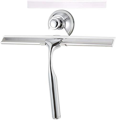 LEBEXY Duschabzieher   Glass Abzieher Dusche Fensterabzieher   Duschkabinenabzieher   Wasserschieber Dusche   Duschwandabzieher   Duschwischer mit 1 Silikon Wischlippe Dusch Ersatzlippe