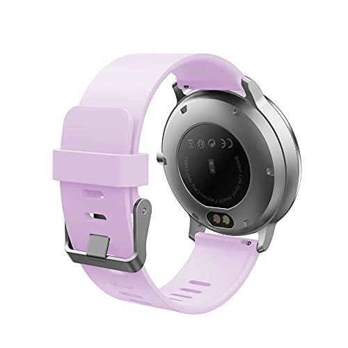 Smart Watch IP67 Waterproof Activity Fitness Tracker Heart Rate Monitor Men's Ladies Bracelet-Purple