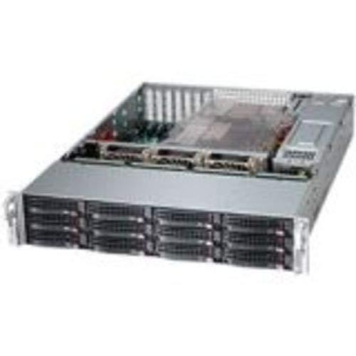 Supermicro 826BA-R1K28LPB Rack Black 1280W computer case - Computer Cases (Rack, Server, EATX, Black, 2U, Home/Office)
