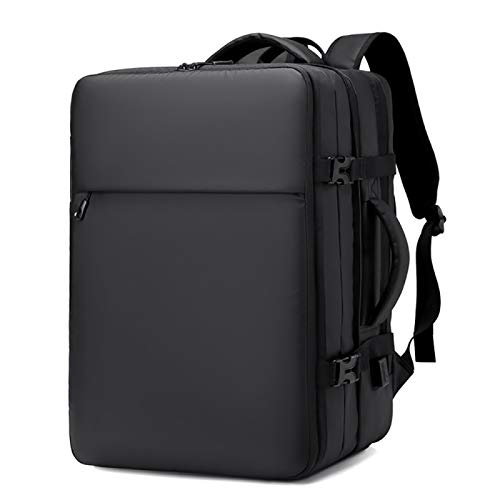 CLBING Laptop Backpack, 17.3 Inch Expandable Laptop Rucksack With USB Charging Port,Black
