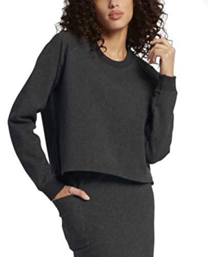 Nike - NikeLab Essentials - Camiseta de forro polar para mujer (talla mediana), color gris