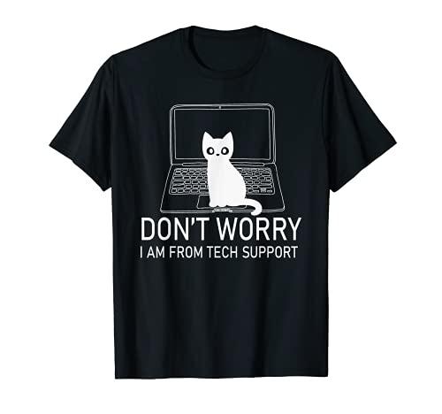 Don't Worry Cat Clavier de gaming pour ordinateur portable T-Shirt
