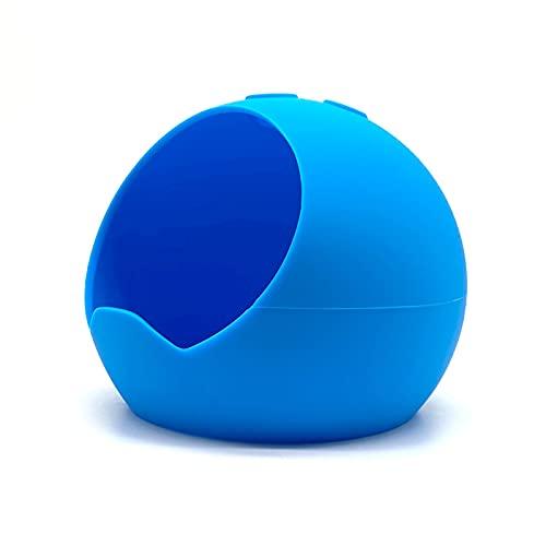 Silikonhülle Für Echo Dot 4 Lautsprecher Hülle Cover, Lautsprecherabdeckung Haut Staubdichter Schutzhalter Stoßfeste Schutzhülle für Dot 4 Lautsprecher (Blau)