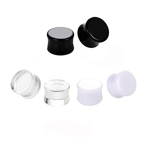 X/L 3 pares de dilatadores de acrílico macizo, dilatadores de oreja de acrílico, dilatadores, 3 mm a 30 mm (tamaño 28 mm)