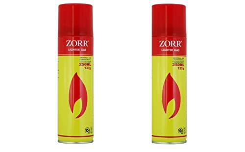 MCK-Handel Universal Gas Lighter Refill - 2X Feuerzeuggas 250ml Nachfüller Gas fürs Feuerzeug Butan-/Propangemisch