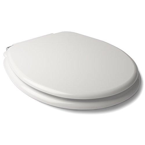 Tatay Asiento WC de caida controlada, en MDF, Material Resistente y sólido. Color Blanco Acabado Brillante.