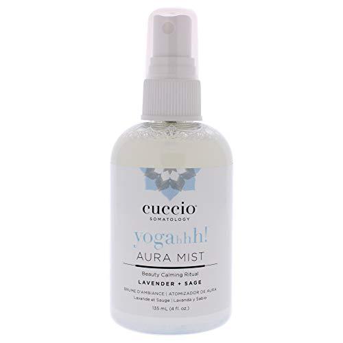 cuccio SOMATOLOGY Yogahhh! Aura Mist - Lavender + Sage - Aromatherapy Spray: Room, Car, Office, Towel, Linens - Peaceful, Calm, Balancing Environment - Essential Oils, Chemical & Fragrance Free - 4 oz