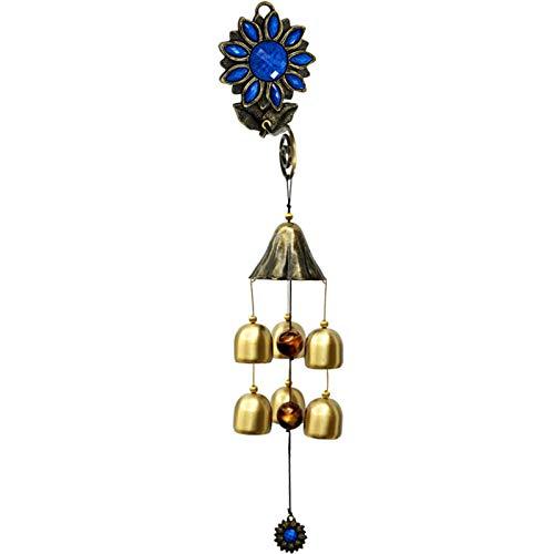 Ybzx Campanas de Viento de decoración Feng Shui, decoración Colgante de Campana de Viento con Forma de Girasol, Puede traer a la Gente Paz y Prosperidad, B